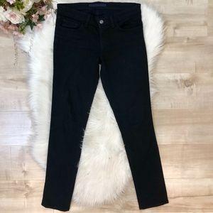 J Brand 'Low Rise Skinny Leg' Black Jeans Sz 26